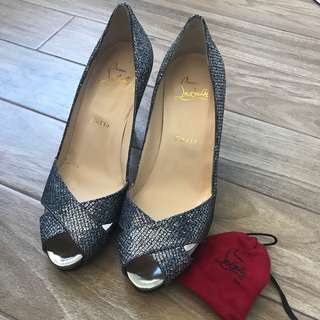 Christian Louboutin Sparkle  Shelley 90 Heels
