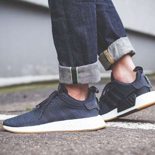 Adidas NMD R2 Grey Blue Black Gum