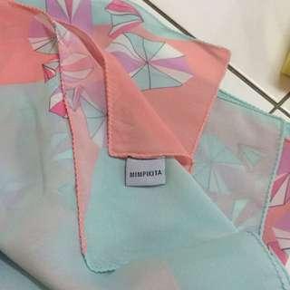 Orissa shawl in mint by mimpikita
