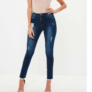 missguided distressed jeans petite