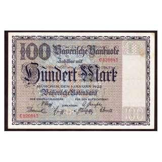 德國紙幣100馬克