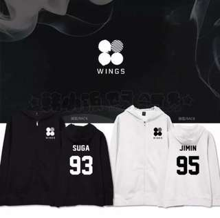 bts jin wings hoodie!!