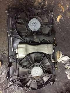 Honda Fit GE6 radiator & condenser fan motor