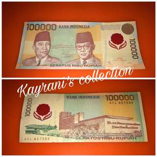 uang kertas 100.000 rupiah tahun 1999