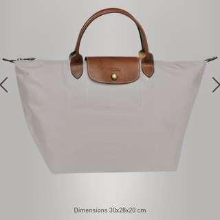 Longchamp Le Pliage Nylon in grey (medium)-BN