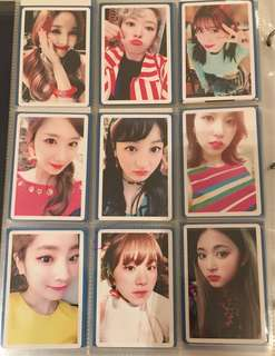 TWICE Preorder Photocards