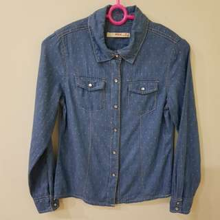Preloved Girls' Denim Shirt