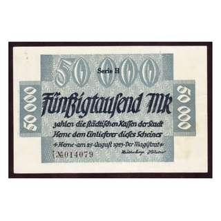 德國紙幣50,000馬克