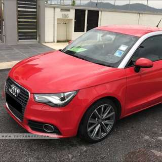 Red Audi A1 1.4A TFSI 122HP (2 door) for Rent