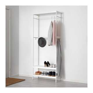 MACKAPÄR Coat rack with shoe storage unit