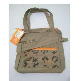 DUKO (Russian Brand) Brown Printed Tote Bag