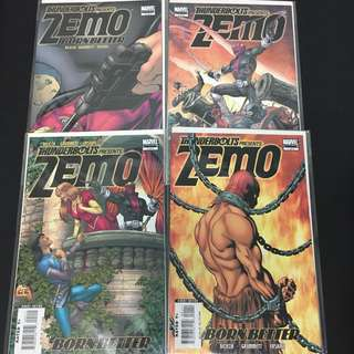 Thunderbolts Presents Zemo: Born Better 1 to 4 Marvel Comics Book Avengers Movie