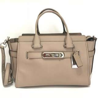 Authentic COACH Swagger 33 Dk Stone