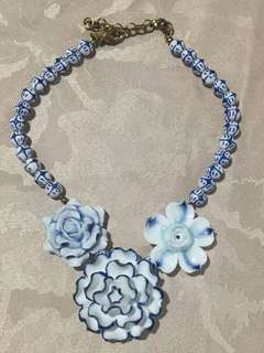 Mango Blue Porcelain Necklace