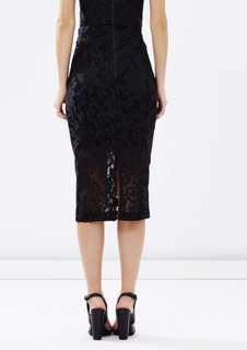Bardot Vanessa Mesh Lace Skirt