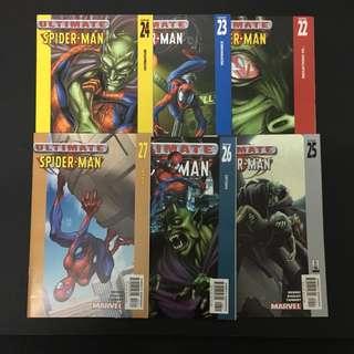 Ultimate Spiderman 22 to 27 Marvel Comics Book Stan Lee Movie Avengers