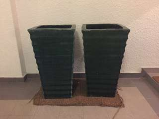 Big tall ceramic plant pots