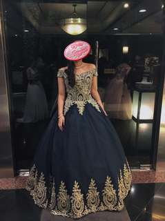 Off-Shoulder Royal Blue Ball Gown