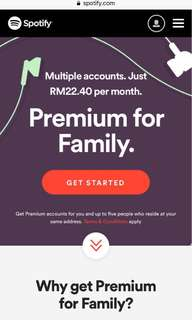 Spotify premium family⚡️(legal) for 5months