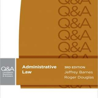 Administrative Law Q&A Book, 2nd ed - excellent condition