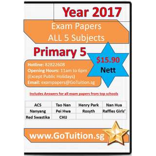 Primary 5 Top Schools Exam Papers - Latest for All Subjects