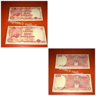 uang kertas 100 rupiah thn 1984
