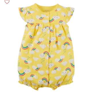 *18M* BN Carter's Snap Up Cotton Romper For Baby Girl