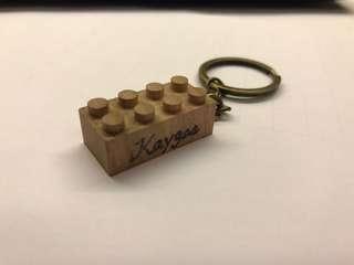 🔸  (刻字)木製LEGO積木鎖匙扣