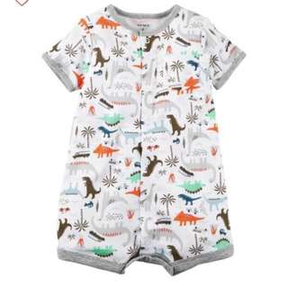 *24M* Carter's Snap Up Cotton Romper For Baby Boy