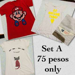 Preloved clothes (3 items for only 75 pesos)