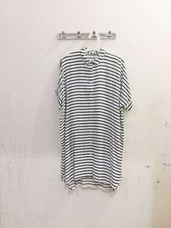 Cottonink black&white striped dress