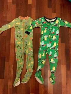 Onesies sleepsuit, for 2-3yo. Selling both for RM15 #Bajet20