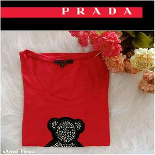 -Yunik- Authentic PRADA® Studded Bear Design Shirt