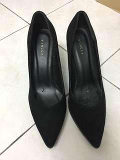 Black Suede Vincci Heels Size 9/40