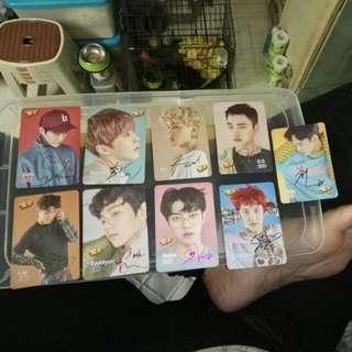 Exo 第二發 Yes Card 簽卡 每張 $4