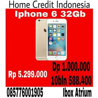 Kredit Iphone 6 32Gb Warna gold, proses 20menit home credit Indonesia