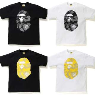 BAPE REFLECTION CAMO BIG APE HEAD TEE
