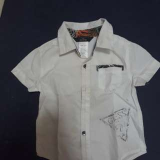 Lightly wore authentic Guess shirt (12M)