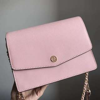 Tory Burch Parker Crossbody / sling bag / shoulder bag - pink