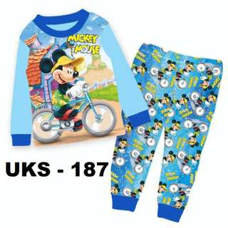 MIcky Mouse  Long Sleeve Pyjamas For (2 Yrs To 7 Yrs)