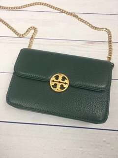 Tory Burch Mini Chelsea Crossbody bag / shoulder bag - dark green