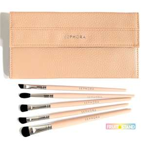 Sephora Eye Brush Set with Travel Case