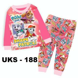 Paw Patrol Long Sleeve Pyjamas For (2 Yrs To 7 Yrs)
