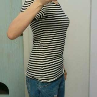 全新NET純棉條紋短袖T