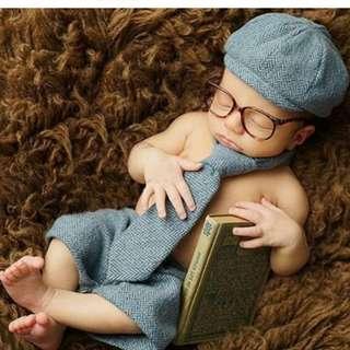 Babies Newborn Photoshoot Props (Gentleman)