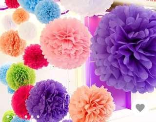 Tissue Pom Poms