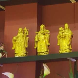 Fu Lu Shou Statues sets of(3)铜做的)
