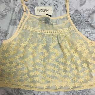 Forever 21 Yellow Cropped