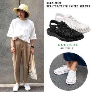 現貨 KEEN UNEEK STAR WHITE 男女裝編織涼鞋