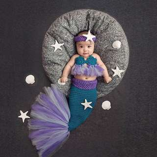 Baby Photography Props - Mermaid style. SO CUTE!